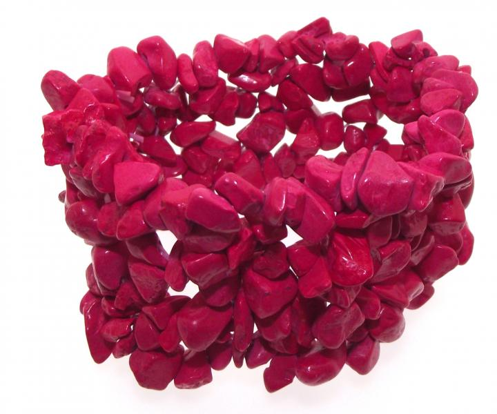 Red Turqenite Cuff Chip Gemstone Bracelet